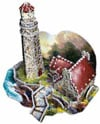 3dpuzzles from wrebbit, light of peace by thomas kinkade painter of light, inspired by award winning Puzzle