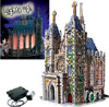 lightedchurch,thomas kinkade 3dpuzzles, wrebbitt puzzles, lighted church, puzz3d, light module included, art by th