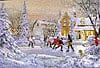 2d foam jigsaw puzzle of a winter scene, boys play hockey, 1000 pieces puzzle, wrebbit perfalock