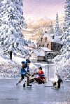 rilvary, painting by laird, 1000 pieces, perfalock jigsaw puzzle, hockey scene in winter