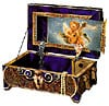 pre-cut paperboard jigsaw puzzle, music box 3d wrebbit puzz3d, 132 pieces angel music box
