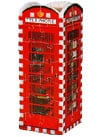 telephone booth, rare 3d mini puzzle, wrebbit, 77 pieces jigsaw 3d puzzle