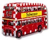 a 3d jigsaw puzzle of a london bus, double decker bus jigsaw 3d puzzle, wrebbit puzz3d