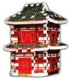 japanesepagoda,a 3d mini puzzle of a japanese pagoda, wrebbit puzz3d mini, 78 pieces, mini puzz