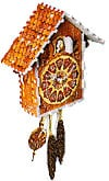 cuckooclock,puzz3d of a cuckoo clock, makes sound, clock wrebbit puzz 3d