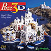 greekvillage,puzz3d greek village, rare wrebbit jigsaw puzzle, white-washed houses puzzle