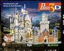 neuschwansteincastlewithlights,neuschwanstein castle 3d puzzle by wrebbit, fully illuminated 3d jigsaw puzzles,  puzz3d 834 pieces,
