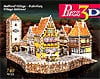 medievalvillagerothenburg,medieval village rothenburg 3d jigsaw puzzle, rare jigsaw puzzle bavarian alps