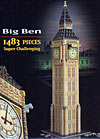 bigben3dpuzzle,big ben 3d jigsaw puzzle by wrebbit, rare puzz3d of england's big ben clock