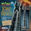 3d jigsaw puzzle of orthanc tower from lord of the rings, lotr the two towers, wrebbit jigsaw puzzle
