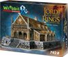 golden hall 3d puzzle, lord of the rings jigsaw puzzles 742 pieces, wrebbitt puzzles