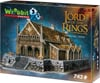 golden-hall,golden hall 3d puzzle, lord of the rings jigsaw puzzles 742 pieces, wrebbitt puzzles