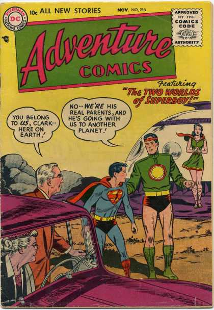 Adventure Comics comic book back issue comicbook back copy