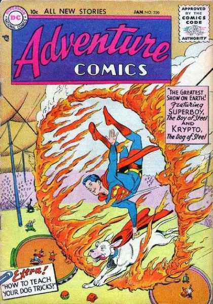 Adventure Comics comic book back issue comicbook back copy