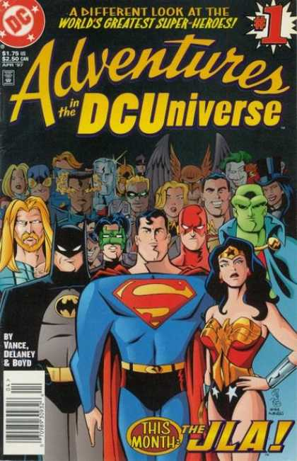 Adventures in the DC Universe Comic Book Back Issues by A1 Comix