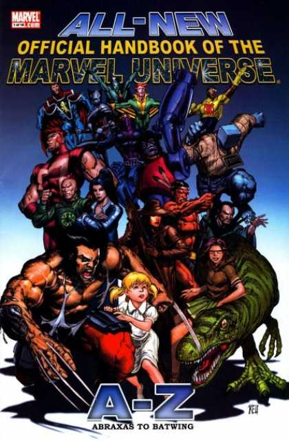 All-New Official Handbook of the Marvel Universe A to Z Comic Book Back Issues of Superheroes by A1Comix