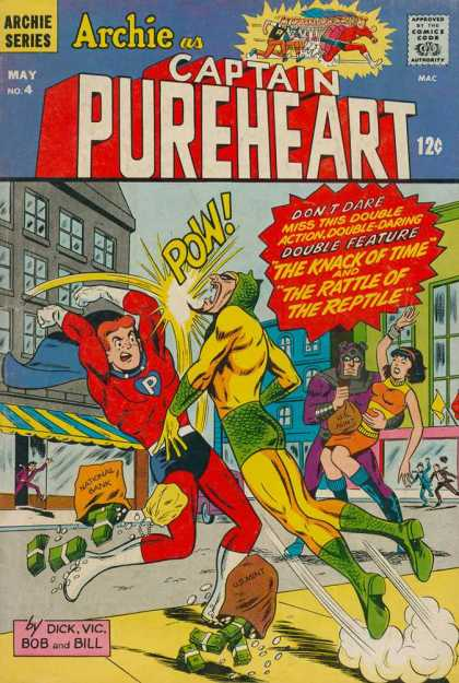 Archie as Captain Pureheart A1 Comix Comic Book Database