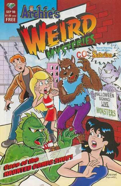 Archie's Weird Mysteries Comic Book Back Issues by A1 Comix