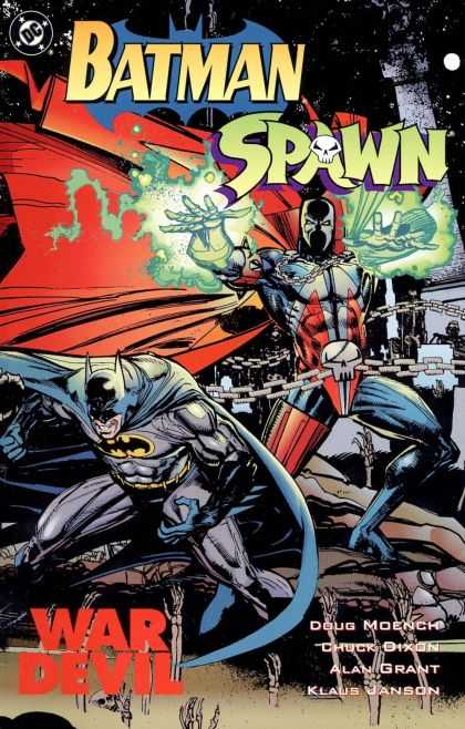 Batman Spawn Comic Book Back Issues of Superheroes by A1Comix