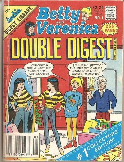 Betty and Veronica Double Digest Comic Book Back Issues by A1 Comix
