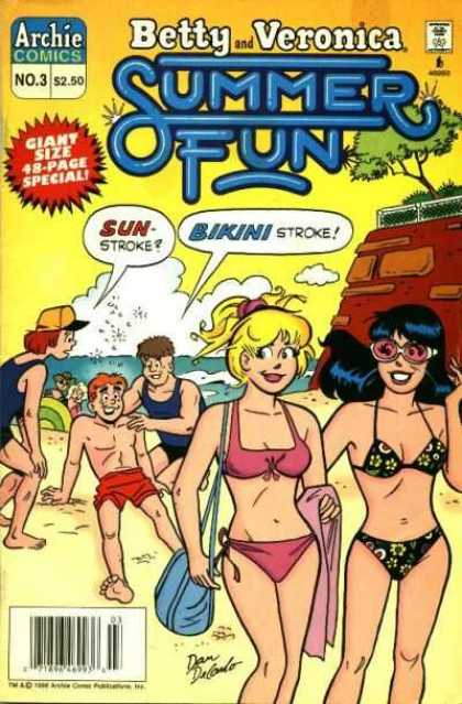 Betty and Veronica Summer Fun comic book back issue comicbook back copy