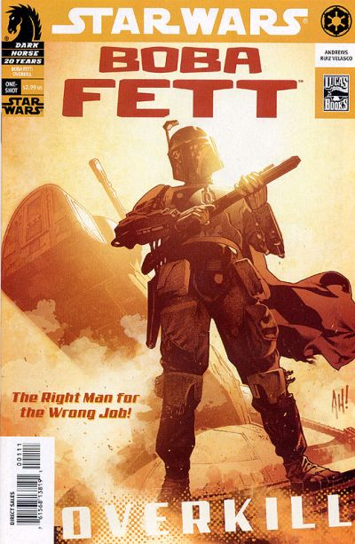 Star Wars Boba Fett Overkill Comic Book Back Issues by A1 Comix
