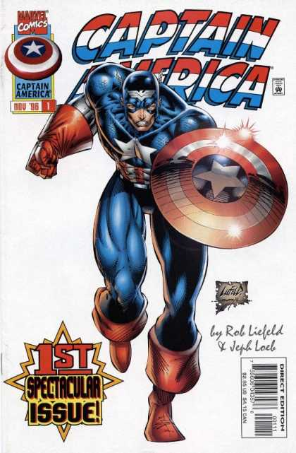 Captain America 1996 Comic Book Back Issues by A1 Comix