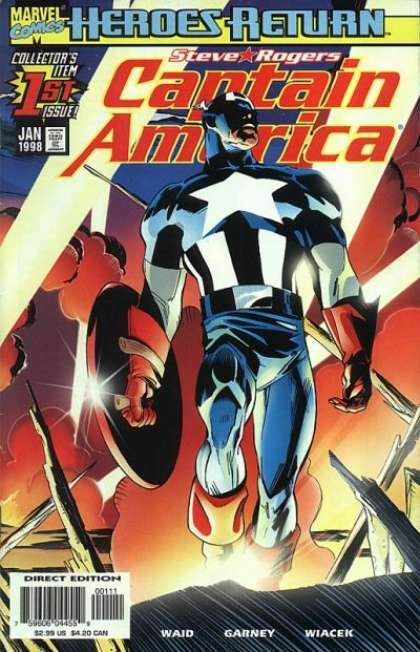 Captain America 1998 Comic Book Back Issues of Superheroes by A1Comix