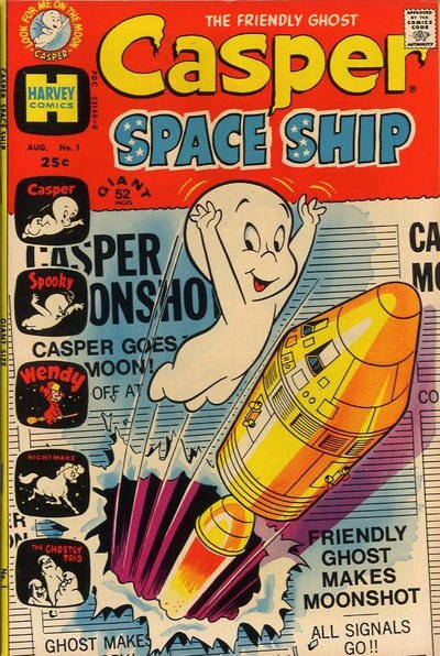 Casper Space Ship Comic Book Back Issues by A1 Comix