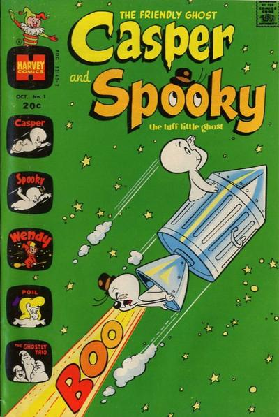 Casper and Spooky Comic Book Back Issues by A1 Comix