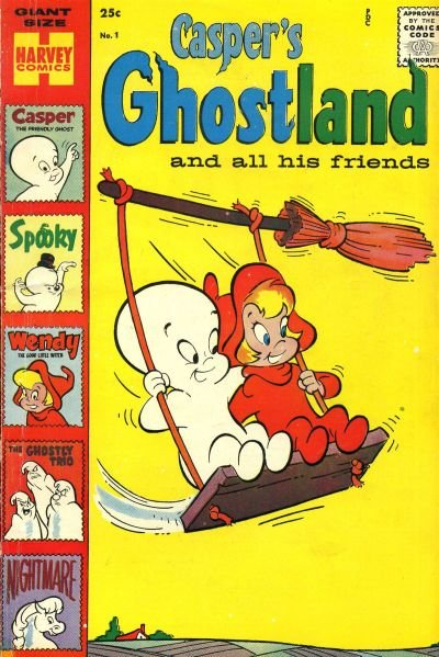 Casper's Ghostland Comic Book Back Issues by A1 Comix