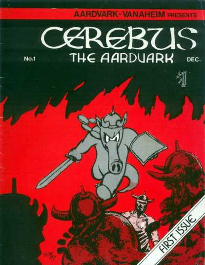 Cerebus comic book back issue comicbook back copy