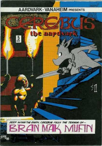 Cerebus comic book back issue comicbook back copy