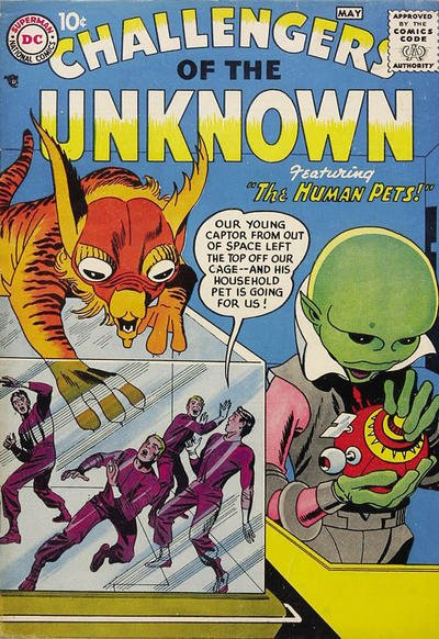 Challengers of the Unknown Comic Book Back Issues by A1 Comix