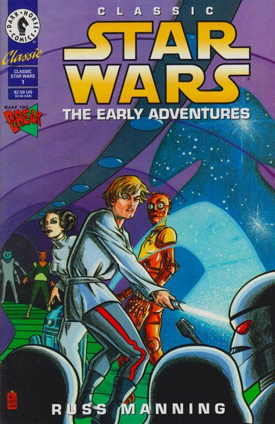 Classic Star Wars The Early Adventures Comic Book Back Issues by A1 Comix