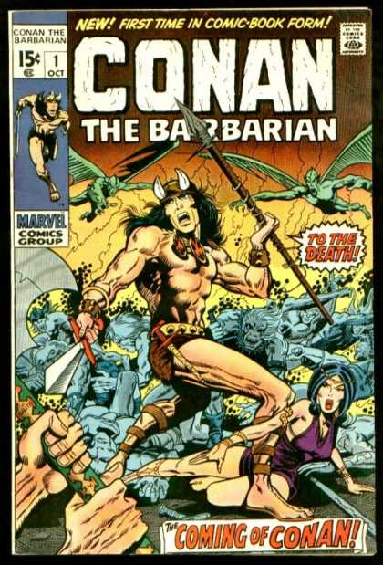 Conan the Barbarian Comic Book Back Issues of Superheroes by A1Comix