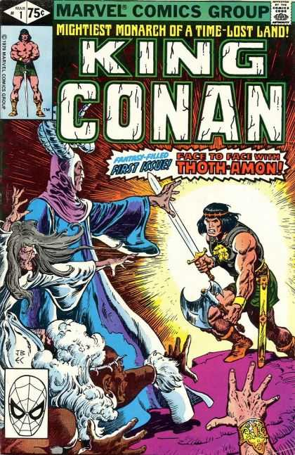 Conan the King Comic Book Back Issues of Superheroes by A1Comix