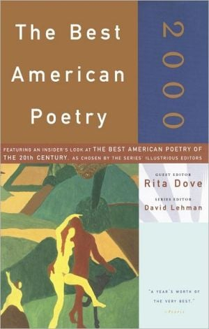 The Best American Poetry 2000 written by Rita Dove