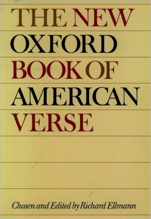 New Oxford Book of American Verse, Vol. 1 book written by Richard Ellmann
