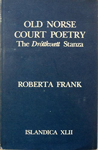 Old Norse court poetry book written by Roberta Frank
