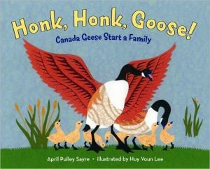 Honk, Honk, Goose!: Canada Geese Start a Family written by April Pulley Sayre