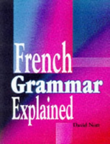 French grammar explained written by