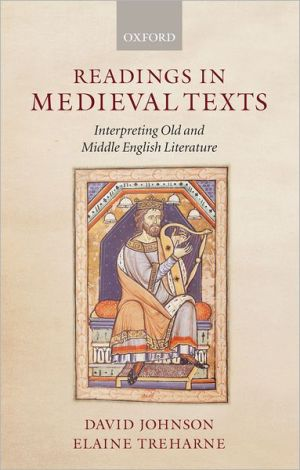Readings in medieval texts book written by David F. Johnson and  Elaine Treharne