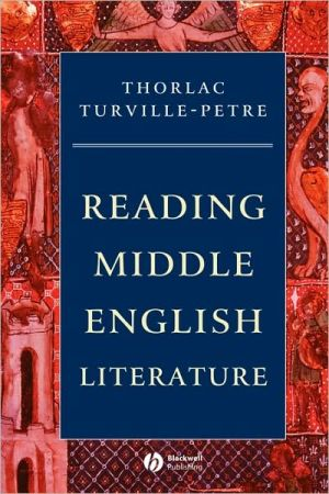 Reading Middle English Literat book written by Turville-Petre