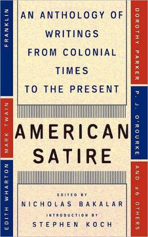 American Satire book written by Nicholas Bakalar