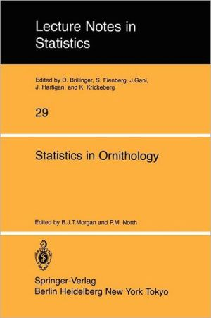 Statistics in Ornithology book written by B. J. Morgan, P. M. North