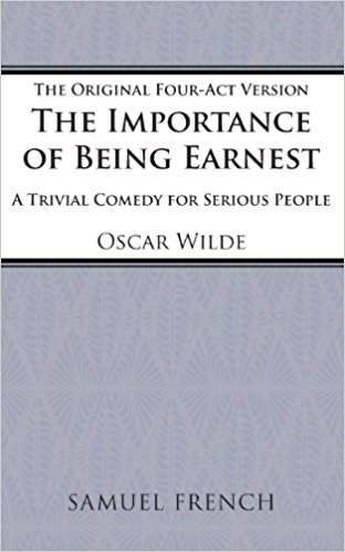 Importance of Being Earnest book written by Oscar Wilde