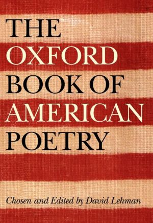 Oxford Book of American Poetry book written by David Lehman