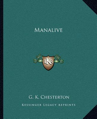 Manalive book written by G. K. Chesterton
