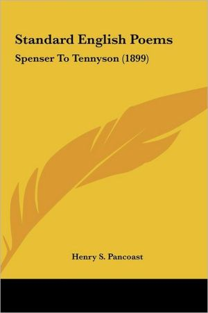 Standard English Poems written by Henry S. Pancoast